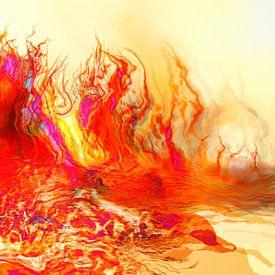 Flammen des Meeres van Dagmar Marina