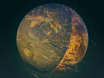 Figuren und Formen - rust ball in space von Christine Nöhmeier