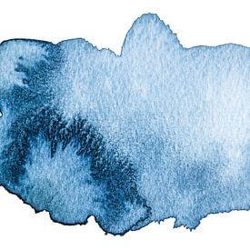 Feeling blue van Watercolor Wall