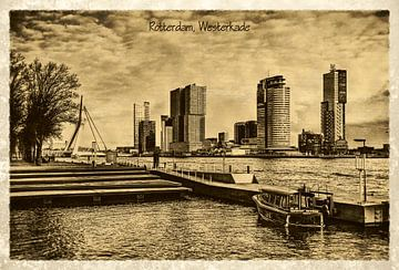 Oude ansichten: Rotterdam Westerkade van Frans Blok