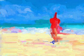Drink on the beach van Judith Robben