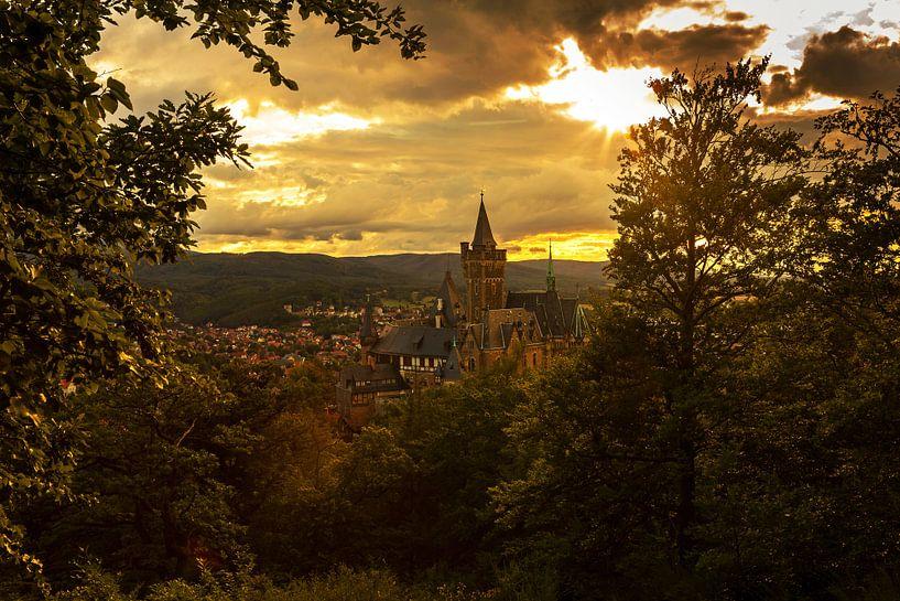 Wernigerode au coucher du soleil sur Frank Herrmann