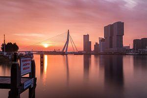 Rotterdam sunrise van Nuance Beeld