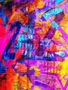 Modern, Abstract kunstwerk - Dreams Full Of Color Part 4