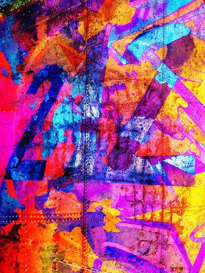 Modern, Abstract kunstwerk - Dreams Full Of Color Part 4 van Art  By Dominic