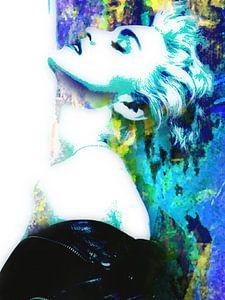 Madonna True Blue Abstrakt Portrait
