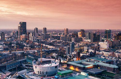Rotterdam sunset skyline van
