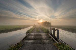 Sonnenaufgang über dem Polder von Raoul Baart