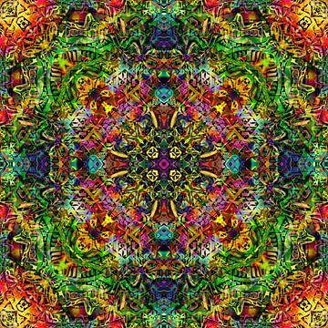 Mandala Liquidlight 5 van Arno Rollenberg