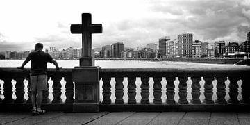 Urban / Street scene (schwarz-weiß) von Rob Blok