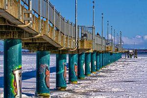 Gevangen in het ijs van de Baltische Zee
