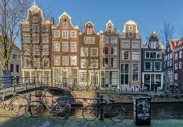 Amsterdamse gevels op de Brouwersgracht. sur Don Fonzarelli