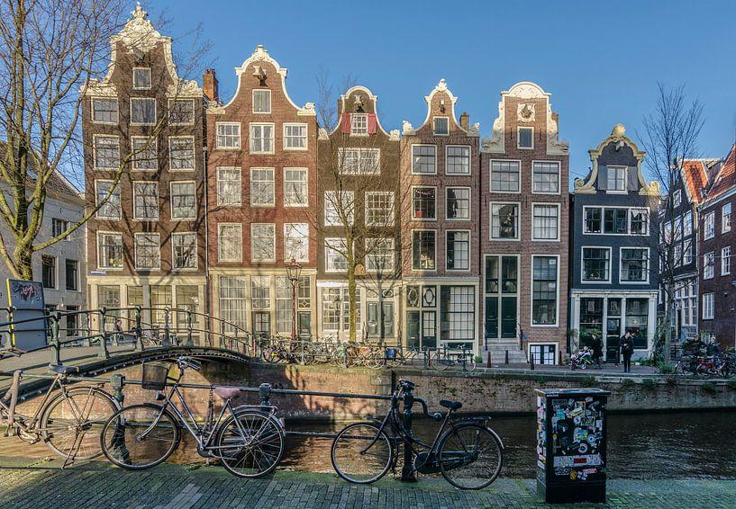 Amsterdamse gevels op de Brouwersgracht. van Don Fonzarelli
