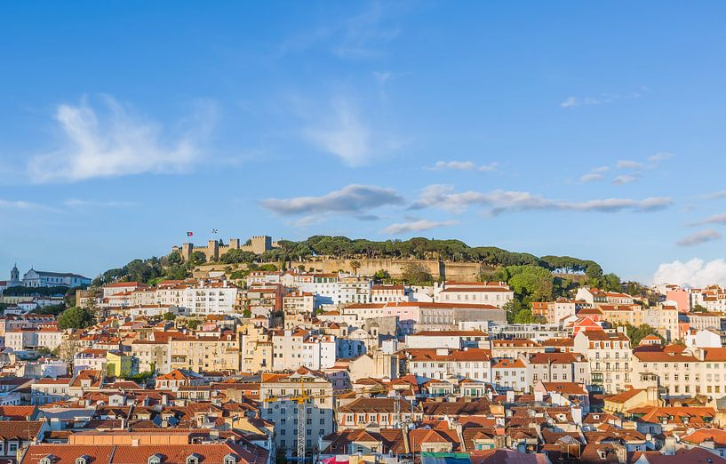 Castelo de São Jorge in Lissabon van MS Fotografie | Marc van der Stelt