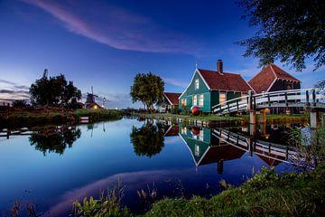 Zaanse Schans - Blaue Stunde von Fotografie Ploeg
