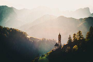 Zonsondergang in de Dolomieten van Michael Blankennagel