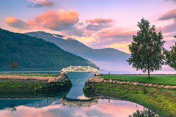 Lever de soleil à Loen, Norvège sur Henk Meijer Photography
