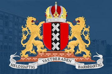 Het wapen van Amsterdam  van Fela de Wit