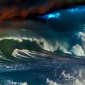 Surf orageux sur Max Steinwald