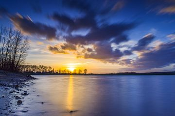 Zonsondergang lange sluitertijd, Lathum van Sharon Hendriks
