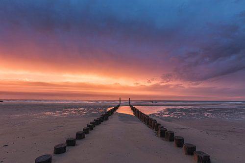 zonsondergang in Nederland van
