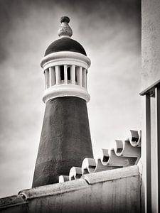 Zwart-witfotografie: Schoorsteen van de Algarve (Portugal) van Alexander Voss