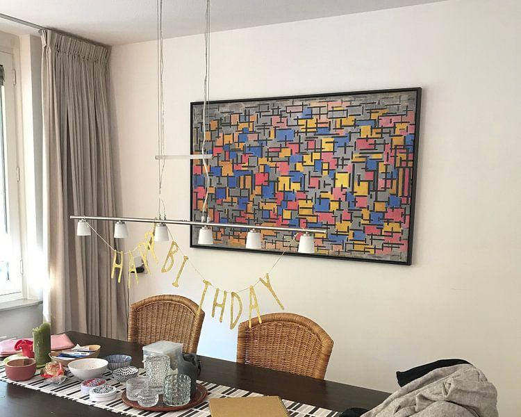 Klantfoto: Piet Mondriaan. Compositie, op canvas