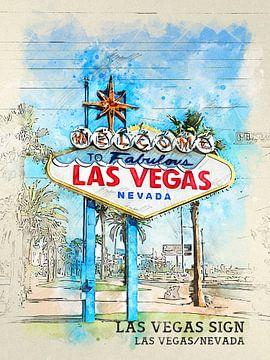 Las Vegas Teken van Printed Artings