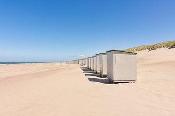 Strandhuisjes bij Burgh-Haamstede van Charlene van Koesveld