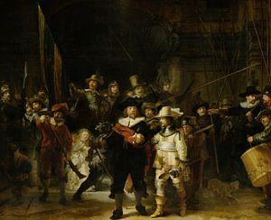 De Nachtwacht van Rembrandt van Rijn - Schilderij