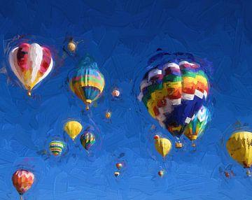 Luchtbalonnen von Patrick Hoenderkamp