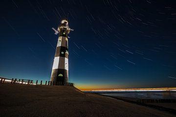 Leuchtturm in der blauen Stunde von Stephan van der Linde