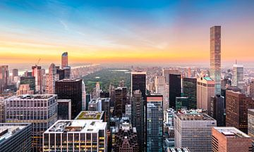 New York, Hochhäuser und Central Park van Sascha Kilmer