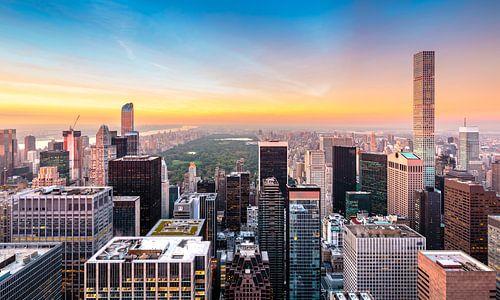 New York, Hochhäuser und Central Park van