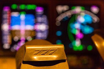 Sfeerbeeld Boeing 777 cockpit van Peter Leenen