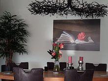 Kundenfoto: Buch &Ampel; Rose von Simone Karis, auf alu-dibond