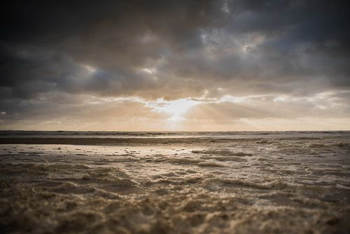 Zonsondergang in Zandvoort van