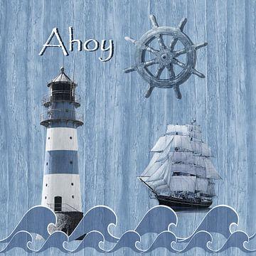 Ahoy - Maritime Blue van Monika Jüngling