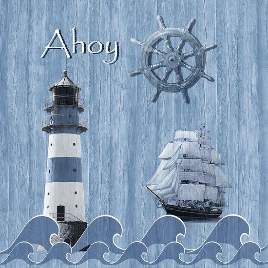 Ahoy - Maritime Blue