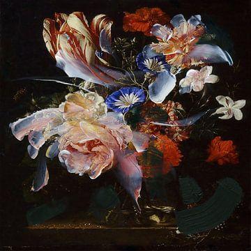 Stilleben mit Blumen (Symbiose) von Jacco Hinke