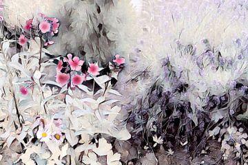 Rosa Blümchen Aquarellmalerei