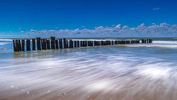Palen in Zee van Peter Heins