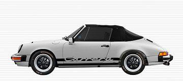 Porsche 911 3.2 Carrera Cabrio in Originalfarbe weiß von aRi F. Huber
