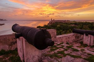 Zonsondergang Havana - Cuba van Jack Koning