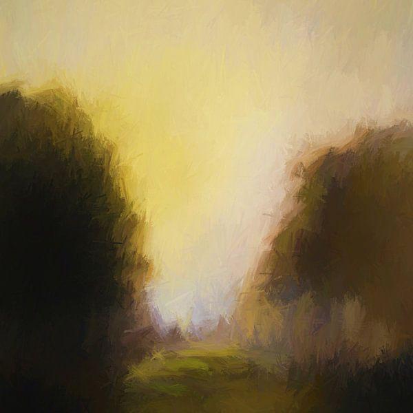 Grove au crépuscule van Angel Estevez