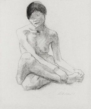 Sitzender weiblicher Akt, KÄTHE KOLLWITZ, 1904 von Atelier Liesjes