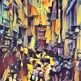 Walking people through the city von Gabi Hampe