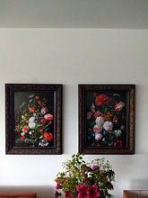 Photo de nos clients: Nature morte avec des fleurs dans un vase en verre, Jan Davidsz. de Heem, sur poster