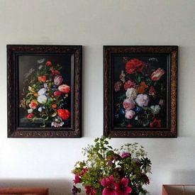 Kundenfoto: Blumenstrauß in einer Glasvase, Jan Davidsz. de Heem, als poster
