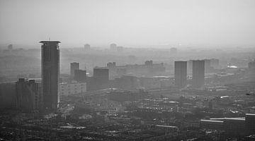 Den Haag vanaf 140m hoogte. van Renzo Gerritsen